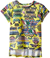 Moschino Kids - Short Sleeve All Over Logo Graphic T-Shirt (Little Kids/Big Kids)