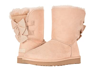 UGG Bailey Bow Short Ruffle (Amberlight) Women