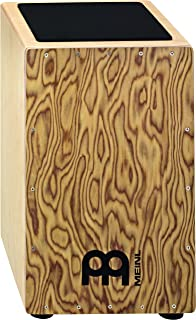 Meinl Cajon Box Drum with Internal Metal Strings for Adjustable Snare Effect – NOT MADE IN CHINA - Hardwood Full Size with Makah Burl Frontplate, 2-YEAR WARRANTY (CAJ3MB-M)