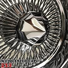 Set of 4pcs 13x7 Rev 100 Spokes Chrome Reverse Wire Wheels Straight Lace Deep Dish Rims (213)