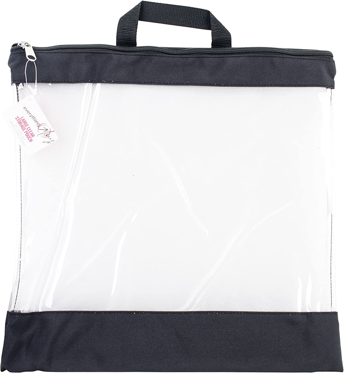 Everything Mary EVM10981-1 Clear Storage Pouch-16 X16 Large