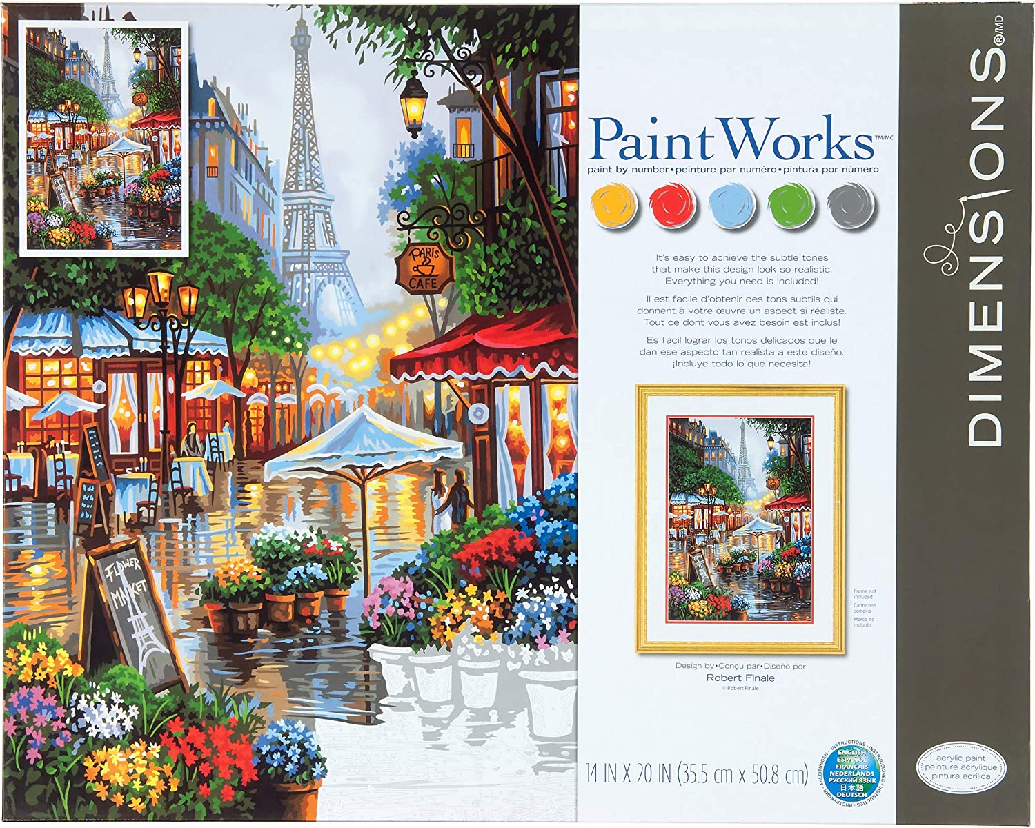 Max 54% OFF Dimensions 73-91741 Financial sales sale Springtime in Paris Kit 14 by Paint Numbers