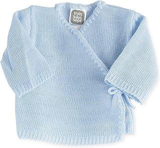 Trois Kilos Sept Brassière Bébé en Tricot Bleu Ciel