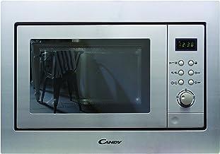 Candy MIC201EX Microondas integrable con grill y marco, Capacidad 20L, Plato giratorio 24,5cm, Potencia 800W-1000W, 8 Programas, Display Digital, Acero inoxidable antihuellas, 230 W, 20 litros, Gris