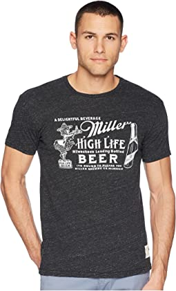 Streaky Tri-Blend Vintage Miller High Life Short Sleeve Tee