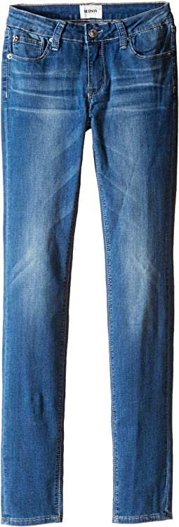 Hudson Kids Dolly Skinny Five-Pocket Skinny Superstretch in Feather Blue (Big Kids)