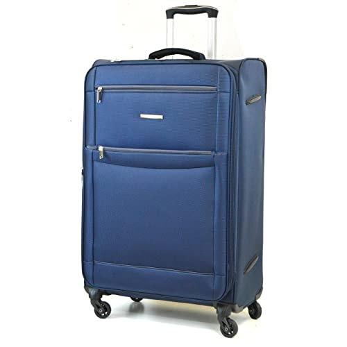 "DK Luggage Starlite Lightweight WLS08 Cabin 20"" Suitcases 4 Wheel Spinner Navy"