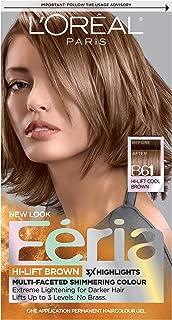 L'OrÃal Paris Feria Multi-Faceted Shimmering Permanent Hair Color, B61 Downtown Brown (Hi-Lift Cool Brown), 1 Count kit Hair Dye