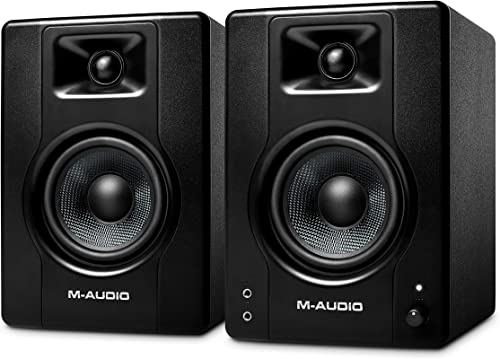 M-Audio BX4 - Enceinte de Bureau / de Monitoring Active 120 W pour Gaming, la Production Musicale, le Streaming et le...
