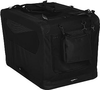 AmazonBasics Premium Folding Portable Soft Pet Dog Crate Carrier Kennel - 30 x 21 x 21 Inches, Black