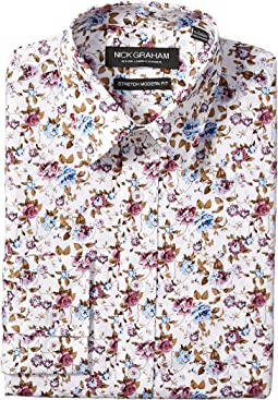 Floral Print Stretch Shirt