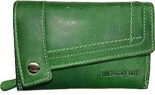Hill Burry skórzana portmonetka damska / portmonetka 3698 / portmonetka wiele przegródek, zielony (zielony) - .