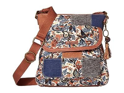Sakroots Artist Circle Flap Crossbody (Clay Enchanted Forest) Cross Body Handbags