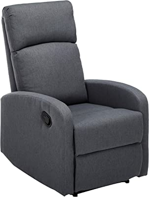 Christopher Knight Home Gaius Classic Fabric Recliner, Charcoal / Black
