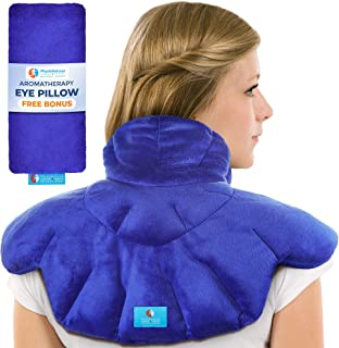 Microwavable Heating Pad with Natural Herbal Aromatherapy - for Instant Relief and Relaxation in Cases of Muscle Pain, Tension and Stress, Aches, Spasm, Stiffness, Migraines, and Headaches