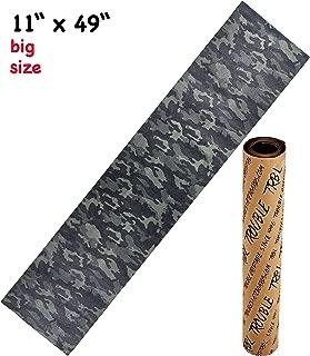Trouble 11 x 49 Longboard Grip Tape Skateboard Griptape Sheet Bubble Free Camo Camouflage (L10)