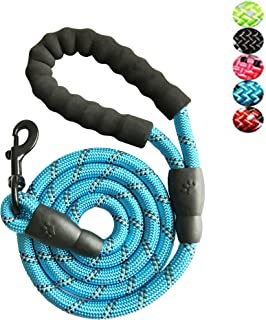 Strong Nylon Dog Leash Rope with Comfortable Padded Handle Training Lead for Medium and Large Breeds Dogs - Heavy Duty 5ft...
