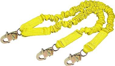 3M DBI-SALA Shockwave 2, 1244406 6' Shock Abosorbing Lanyard, Tubular Web, 100% Tie Off w/Self Locking Snap Hooks At Each End, Yellow