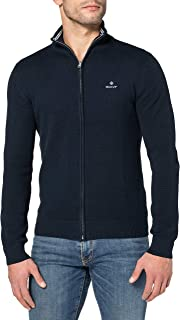 GANT Men's Cotton Pique Zip Cardigan Sweater