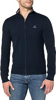GANT Men's Cotton Pique Zip Cardigan Sweater