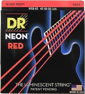 5er Bass 45-105 - Bajo neón, color rojo neón
