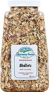 Harmony House Foods - Premium Dehydrated Shallots, 8 oz Size Quart Size Jar