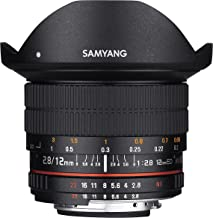Samyang 12mm F2.8 Ultra Wide Fisheye Lens for Sony E Mount Interchangeable Lens Cameras (NEX) - Full Frame Compatible