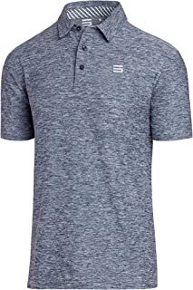 Golf Shirts for Men - Dry Fit Short-Sleeve Polo, Athletic Casual Collared T-Shirt