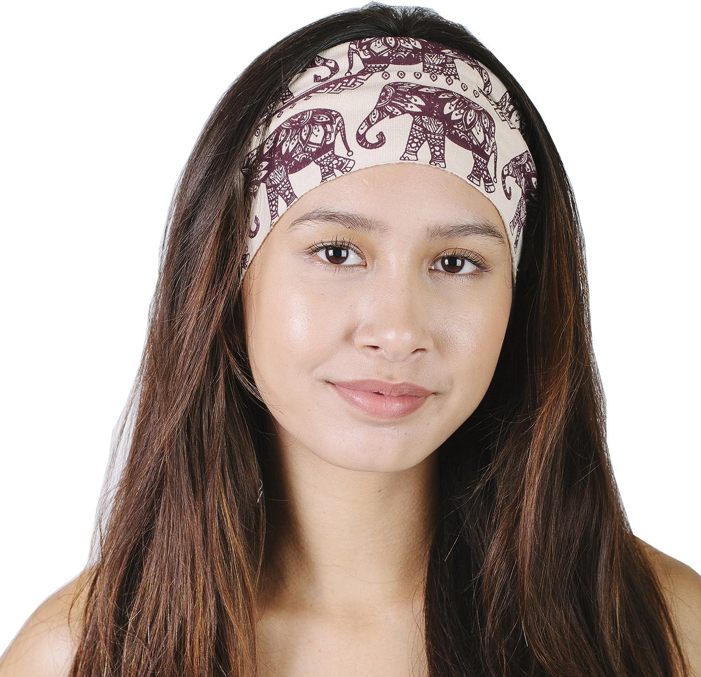 Elephant March Organic Cotton Wide Active Yoga Fleece Lined Headband Wrap