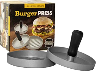 Holland & Jagger Best Burger Press—Hamburger Patty Maker for Stuffed Burgers—Quality BBQ Grilling Accessories (Single)