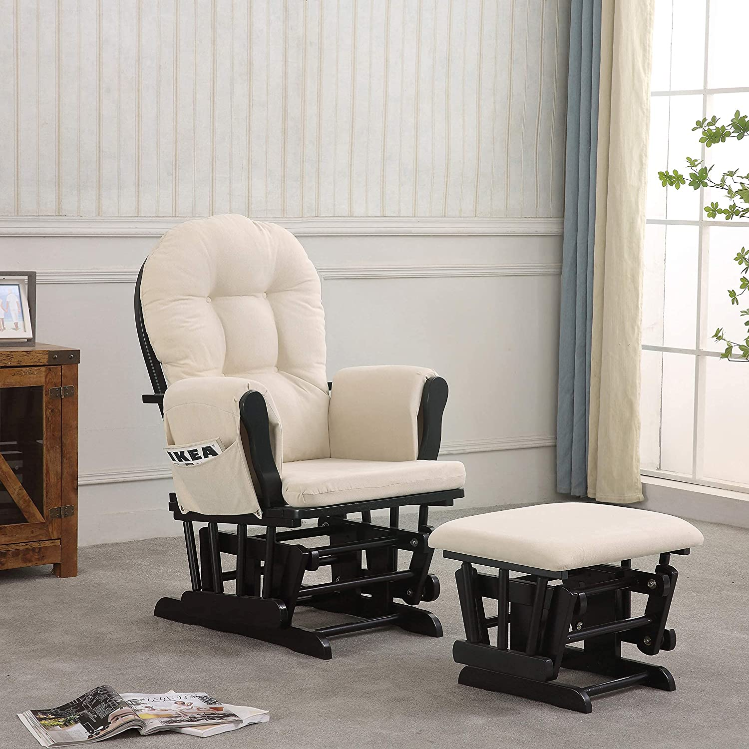 Atoll Free shipping / New Glider Complete Free Shipping with Beige Black Ottoman