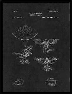 ماكينة الطيران سبوت كولور ارت PATENT150003BK-79BK 1889، 17.78 سم × 22.86 سم