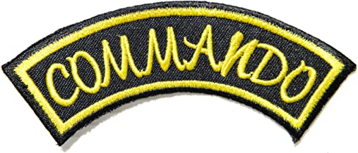 COMMANDO Police Militry Army Combat Logo Jacket Back Patch Sew Iron on Embroidered Badge Custom