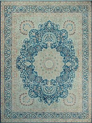 Noori Rug Fine Vintage Kieran Area Rug, Blue