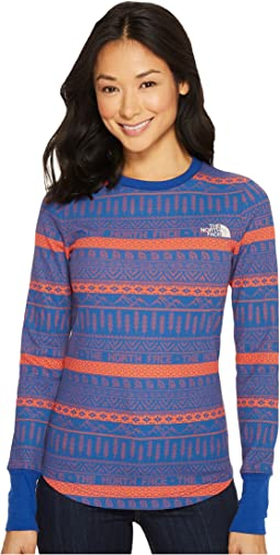 The North Face - Long Sleeve Holiday Nordic Waffle Tee
