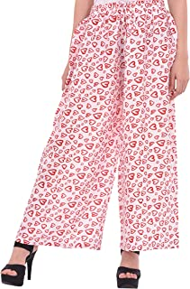 COTTON BREEZE Women's Regular Fit Palazzo Pants White