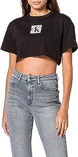 Calvin Klein Hologram Logo Crop Tee Collare spalmato Donna