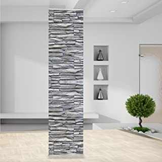 RT60_RID4_2 - Panel separador de ambientes diseño de muro de piedra