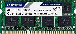 Timetec Hynix IC 4GB DDR3L 1600MHz PC3L-12800 Unbuffered Non-ECC 1.35V CL11 2Rx8 Dual Rank 204 Pin SODIMM Laptop Notebook ...