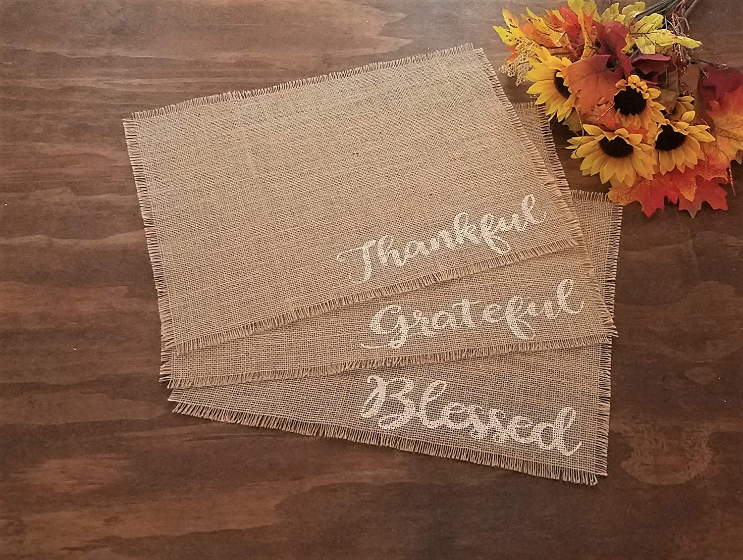 Rustic Max 40% OFF Nippon regular agency Fall Placemats For Burlap Kitchen Table