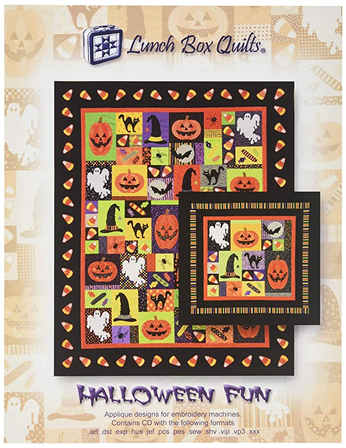Lunch Box Quilts LBQ QP-HF-1 Halloween Fun Pattern, Finishes at 54