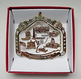 Nations Treasures Washington D.C. Souvenir Christmas Ornament Gift Capitol White House Monuments Memorials