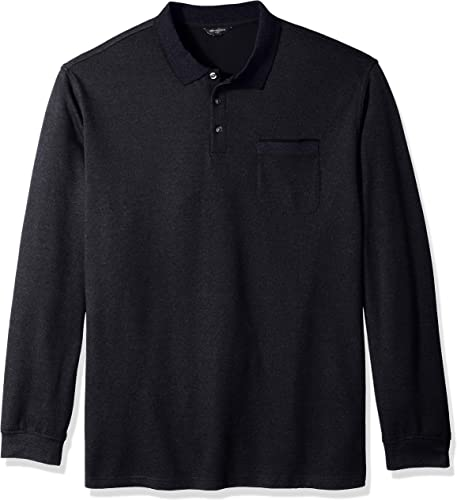 Van Heusen Hommes's Big and Tall Flex Jaspe Polo Shirt, Deep bleu Monday, 2X-grand Big