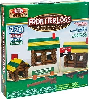Ideal Frontier Logs 220 Piece Classic Wood Construction Set