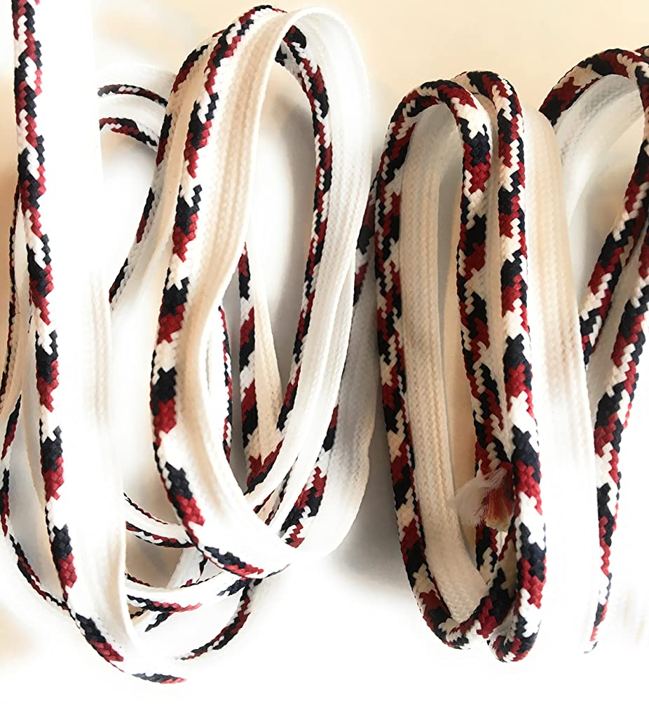 LIP CORDING Multi Color White / Black / Marroon -Cord-edge -Piping Trim for Clothing Pillows, Lamps, Draperies 5 Yards Pi-129