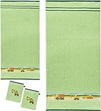 Handtuch Baumwolle schwarz Handtuch-Set 2x 50x100 cm /& 2x 140x70 cm