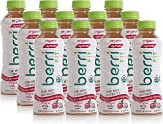 Berri Fit Dragon Fruit Organic Sports Drink Alternative with Natural Plant-Based Electrolytes, Low-Calorie Fitness Beverage, Non-GMO, Paleo Friendly, 16oz, Pack of 12