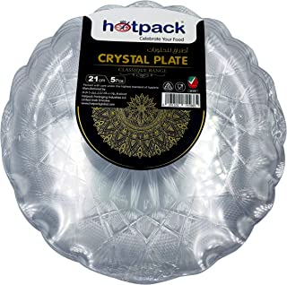 HOTPACK - 5 PIECES CRYSTAL PLATE - 21 centimetre