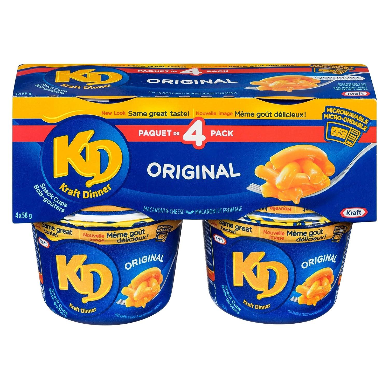 KD KRAFT DINNER Snack Cups - 4ct Original Max 55% Tulsa Mall OFF Cheese Macaroni 58g