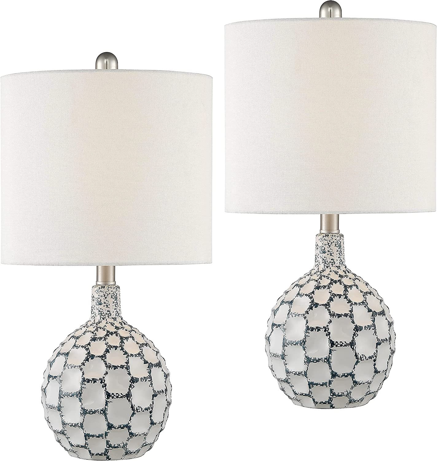 Maxax Popular brand in the world Tulsa Mall Table Lamp Set of 2 Ceramic Desk White with Bedside
